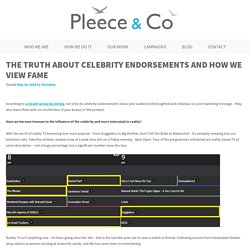 Celebrity endorsements, reality TV and how we judge success