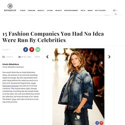 Celebrity Fashion Brands Companies