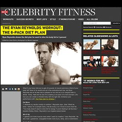 Men's Health - Celebrity Fitness - Ryan Reynolds's Workout: The 6-Pack Diet Plan