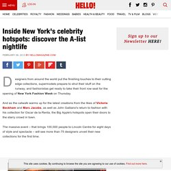 New York celebrity hotspots: the A-list nightlife discovered