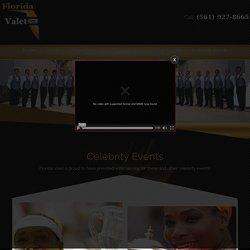 Celebrity Events Valet Parking - Florida Valet Parking