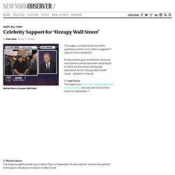 Celebrity Support for 'Occupy Wall Street'