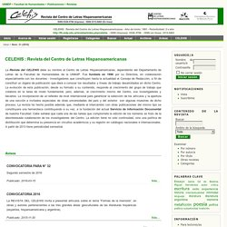 CELEHIS : Revista del Centro de Letras Hispanoamericanas