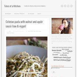 Celeriac pasta with walnut and apple sauce {raw & vegan}