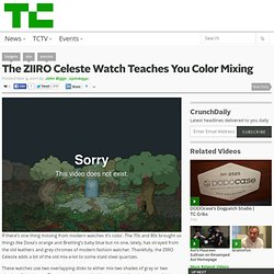 The ZIIRO Celeste Watch Teaches You Color Mixing