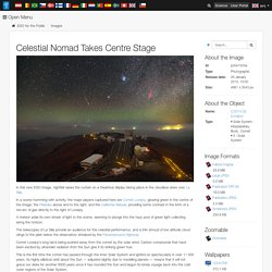 Celestial Nomad Takes Centre Stage