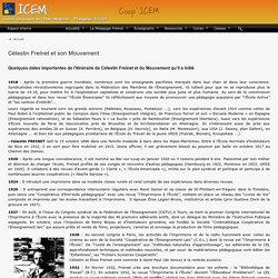 Célestin Freinet et son Mouvement