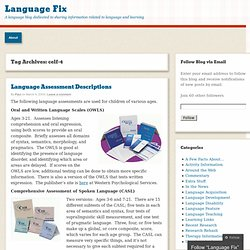 celf-4 « Language Fix
