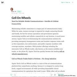 Cell On Wheels – Medium