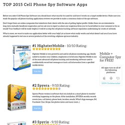 TOP Spy Cell Phone Software Reviews.