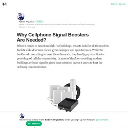 Why Cellphone Signal Boosters Are Needed? – Robert McJunkin – Medium