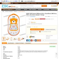 Buy GK301 GPS GSM Cellphone for Kid w/ Quad-Band, Single SIM, SOS and Ultra-low Radiation - Orange