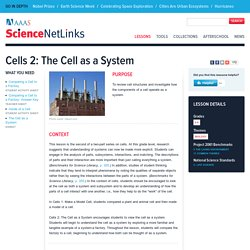Cells 2: The Cell as a System