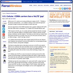 U.S. Cellular: CDMA carriers face a VoLTE 'gap'