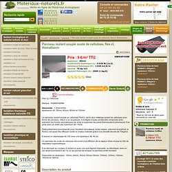 Panneau isolant naturel souple en cellulose, flex cl, Homatherm - Vente de matériaux naturels et écologiques