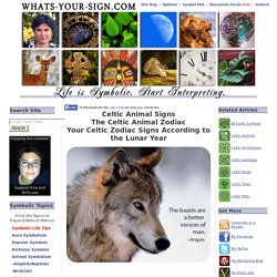 Celtic Animal Signs - Celtic Animal Zodiac