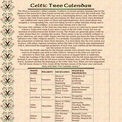 Celtic Tree Calendar - Ogham Alphabet
