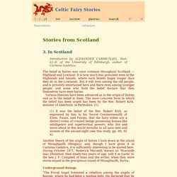 Celtic Fairy Stories