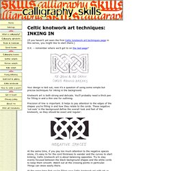 Celtic knotwork art: inking in your drawn design