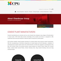 Cement Plant Manufacturers - Mini Cement Plants