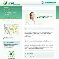 Cemupe - Centro de Medicina Nuclear