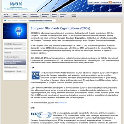 CENELEC - About CENELEC - Who we are - European partners