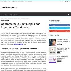 Cenforce 200: Best ED pills for Impotence Treatment