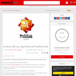 Cenforce 150 mg - Buy Online with PayPal Credit Article