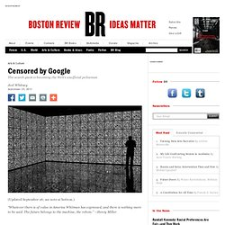 Censored by Google | Boston Review