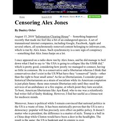Censoring Alex Jones