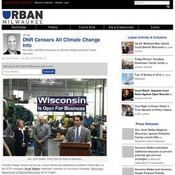 Op Ed: DNR Censors All Climate Change Info » Urban Milwaukee