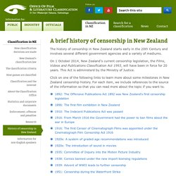 A Brief History of Censorship in New Zealand: Classification in NZ :Office of Film and Literature Classification