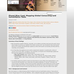 Planet Blue Coat: Mapping Global Censorship and Surveillance ToolsThe Citizen Lab