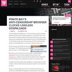 Pirate Bay's Anti-Censorship Browser Clocks 1,000,000 Downloads