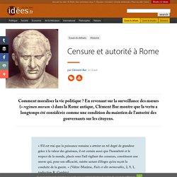 Censure et autorité à Rome