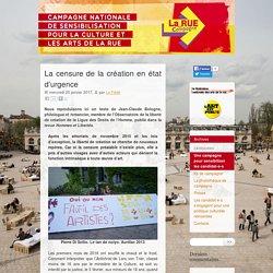 La censure de la création en état d'urgence - La Rue en Campagne
