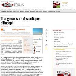 Orange censure des critiques d'Hadopi