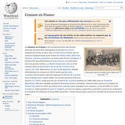 Censure en France