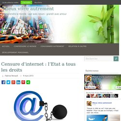 Censure d'internet : l'Etat a tous les droits