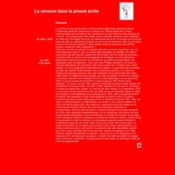 Censure de la presse écrite de 1801 à nos jours, TPE 1ère ES