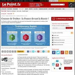 Censure de Twitter : la France devant la Russie !