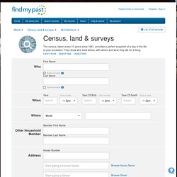 Census records | 1841 - 1911 census records | Findmypast.co.uk