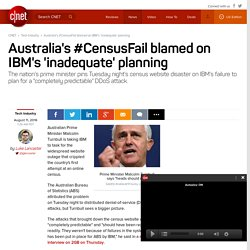 Australia's #CensusFail blamed on IBM's 'inadequate' planning