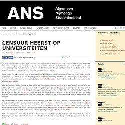 ANS-Online: Censuur heerst op universiteiten 24March2007