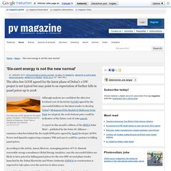 'Six-cent energy is not the new normal': pv-magazine