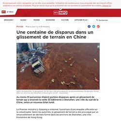 Une centaine de disparus dans un glissement de terrain en Chine - rts.ch - Monde