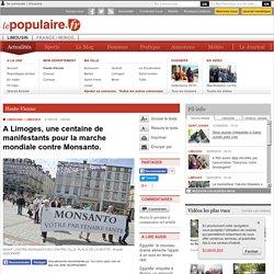 A Limoges, une centaine de manifestants pour la marche mondiale contre Monsanto.