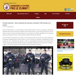 Procès Cahuzac : des centaines de citoyens remettent 196 chaises à la justice