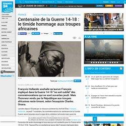 Centenaire de la Guerre 14-18: le timide hommage aux troupes africaines