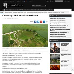 Centenary of Britain's bloodiest battle
